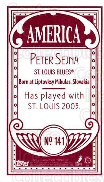 2003-04 Topps C55 Minis American Red #141 Peter Sejna<br/>2 In Stock - $5.00 each - <a href=https://centericecollectibles.foxycart.com/cart?name=2003-04%20Topps%20C55%20Minis%20American%20Red%20%23141%20Peter%20Sejna...&quantity_max=2&price=$5.00&code=318396 class=foxycart> Buy it now! </a>