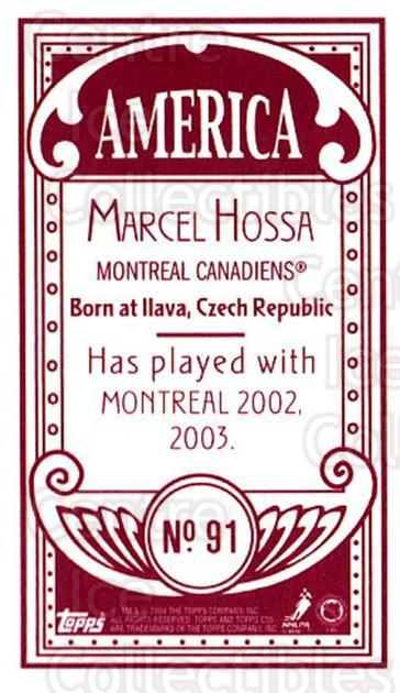 2003-04 Topps C55 Minis American Red #91 Marcel Hossa<br/>3 In Stock - $5.00 each - <a href=https://centericecollectibles.foxycart.com/cart?name=2003-04%20Topps%20C55%20Minis%20American%20Red%20%2391%20Marcel%20Hossa...&quantity_max=3&price=$5.00&code=318403 class=foxycart> Buy it now! </a>