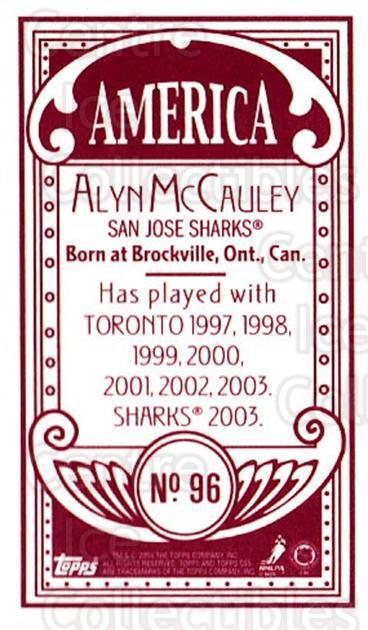 2003-04 Topps C55 Minis American Red #96 Alyn McCauley<br/>2 In Stock - $5.00 each - <a href=https://centericecollectibles.foxycart.com/cart?name=2003-04%20Topps%20C55%20Minis%20American%20Red%20%2396%20Alyn%20McCauley...&quantity_max=2&price=$5.00&code=318408 class=foxycart> Buy it now! </a>