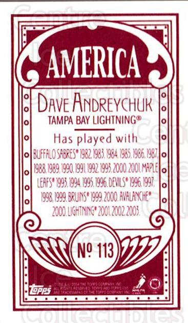 2003-04 Topps C55 Minis American Red #113 Dave Andreychuk<br/>2 In Stock - $5.00 each - <a href=https://centericecollectibles.foxycart.com/cart?name=2003-04%20Topps%20C55%20Minis%20American%20Red%20%23113%20Dave%20Andreychuk...&quantity_max=2&price=$5.00&code=318429 class=foxycart> Buy it now! </a>