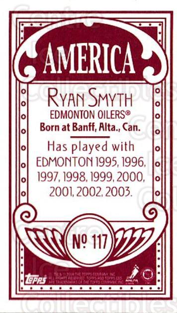2003-04 Topps C55 Minis American Red #117 Ryan Smyth<br/>1 In Stock - $5.00 each - <a href=https://centericecollectibles.foxycart.com/cart?name=2003-04%20Topps%20C55%20Minis%20American%20Red%20%23117%20Ryan%20Smyth...&quantity_max=1&price=$5.00&code=318432 class=foxycart> Buy it now! </a>