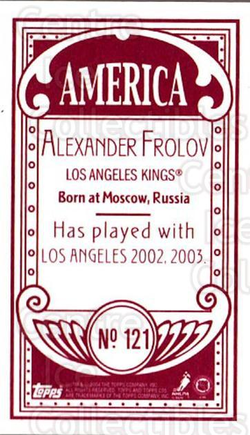 2003-04 Topps C55 Minis American Red #121 Alexander Frolov<br/>1 In Stock - $5.00 each - <a href=https://centericecollectibles.foxycart.com/cart?name=2003-04%20Topps%20C55%20Minis%20American%20Red%20%23121%20Alexander%20Frolo...&quantity_max=1&price=$5.00&code=318437 class=foxycart> Buy it now! </a>