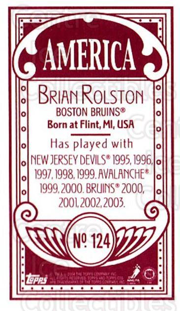 2003-04 Topps C55 Minis American Red #124 Brian Rolston<br/>2 In Stock - $5.00 each - <a href=https://centericecollectibles.foxycart.com/cart?name=2003-04%20Topps%20C55%20Minis%20American%20Red%20%23124%20Brian%20Rolston...&quantity_max=2&price=$5.00&code=318439 class=foxycart> Buy it now! </a>