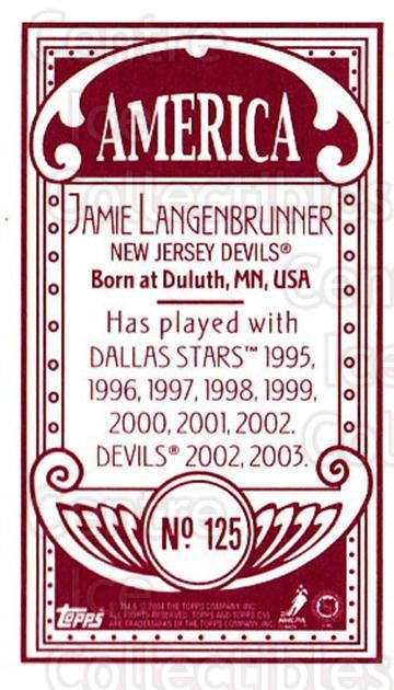 2003-04 Topps C55 Minis American Red #125 Jamie Langenbrunner<br/>1 In Stock - $5.00 each - <a href=https://centericecollectibles.foxycart.com/cart?name=2003-04%20Topps%20C55%20Minis%20American%20Red%20%23125%20Jamie%20Langenbru...&quantity_max=1&price=$5.00&code=318440 class=foxycart> Buy it now! </a>