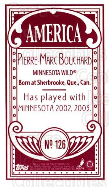 2003-04 Topps C55 Minis American Red #126 Pierre-Marc Bouchard<br/>1 In Stock - $5.00 each - <a href=https://centericecollectibles.foxycart.com/cart?name=2003-04%20Topps%20C55%20Minis%20American%20Red%20%23126%20Pierre-Marc%20Bou...&quantity_max=1&price=$5.00&code=318441 class=foxycart> Buy it now! </a>