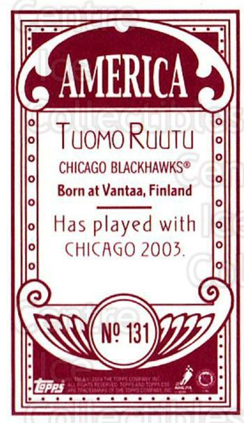 2003-04 Topps C55 Minis American Red #131 Tuomo Ruutu<br/>2 In Stock - $5.00 each - <a href=https://centericecollectibles.foxycart.com/cart?name=2003-04%20Topps%20C55%20Minis%20American%20Red%20%23131%20Tuomo%20Ruutu...&quantity_max=2&price=$5.00&code=318446 class=foxycart> Buy it now! </a>