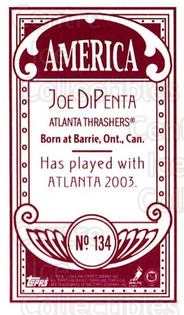2003-04 Topps C55 Minis American Red #134 Joe DiPenta<br/>2 In Stock - $5.00 each - <a href=https://centericecollectibles.foxycart.com/cart?name=2003-04%20Topps%20C55%20Minis%20American%20Red%20%23134%20Joe%20DiPenta...&quantity_max=2&price=$5.00&code=318449 class=foxycart> Buy it now! </a>