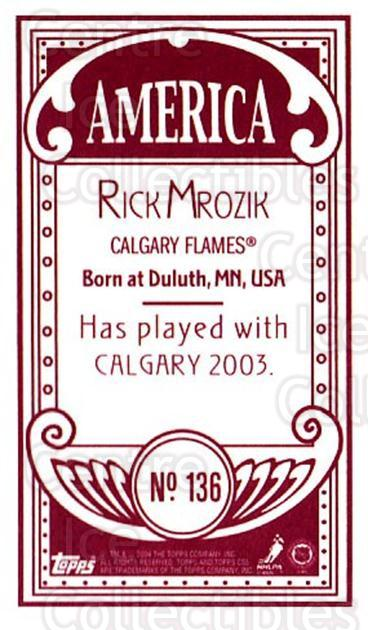 2003-04 Topps C55 Minis American Red #136 Rick Mrozik<br/>2 In Stock - $5.00 each - <a href=https://centericecollectibles.foxycart.com/cart?name=2003-04%20Topps%20C55%20Minis%20American%20Red%20%23136%20Rick%20Mrozik...&quantity_max=2&price=$5.00&code=318451 class=foxycart> Buy it now! </a>