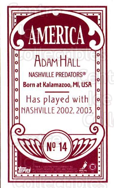 2003-04 Topps C55 Minis American Red #14 Adam Hall<br/>3 In Stock - $5.00 each - <a href=https://centericecollectibles.foxycart.com/cart?name=2003-04%20Topps%20C55%20Minis%20American%20Red%20%2314%20Adam%20Hall...&quantity_max=3&price=$5.00&code=318454 class=foxycart> Buy it now! </a>