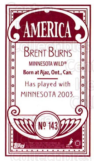 2003-04 Topps C55 Minis American Red #143 Brent Burns<br/>1 In Stock - $20.00 each - <a href=https://centericecollectibles.foxycart.com/cart?name=2003-04%20Topps%20C55%20Minis%20American%20Red%20%23143%20Brent%20Burns...&quantity_max=1&price=$20.00&code=318457 class=foxycart> Buy it now! </a>