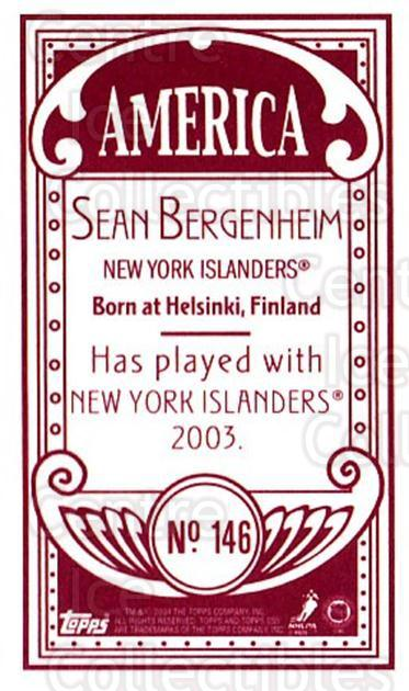2003-04 Topps C55 Minis American Red #146 Sean Bergenheim<br/>1 In Stock - $5.00 each - <a href=https://centericecollectibles.foxycart.com/cart?name=2003-04%20Topps%20C55%20Minis%20American%20Red%20%23146%20Sean%20Bergenheim...&quantity_max=1&price=$5.00&code=318460 class=foxycart> Buy it now! </a>