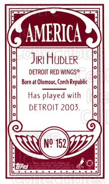 2003-04 Topps C55 Minis American Red #152 Jiri Hudler<br/>1 In Stock - $5.00 each - <a href=https://centericecollectibles.foxycart.com/cart?name=2003-04%20Topps%20C55%20Minis%20American%20Red%20%23152%20Jiri%20Hudler...&quantity_max=1&price=$5.00&code=318466 class=foxycart> Buy it now! </a>