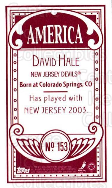 2003-04 Topps C55 Minis American Red #153 David Hale<br/>1 In Stock - $5.00 each - <a href=https://centericecollectibles.foxycart.com/cart?name=2003-04%20Topps%20C55%20Minis%20American%20Red%20%23153%20David%20Hale...&quantity_max=1&price=$5.00&code=318467 class=foxycart> Buy it now! </a>