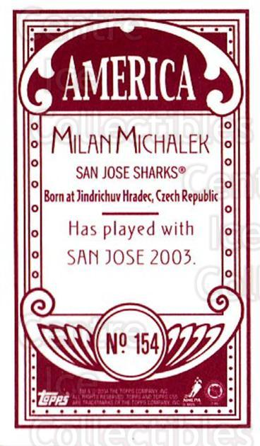 2003-04 Topps C55 Minis American Red #154 Milan Michalek<br/>2 In Stock - $5.00 each - <a href=https://centericecollectibles.foxycart.com/cart?name=2003-04%20Topps%20C55%20Minis%20American%20Red%20%23154%20Milan%20Michalek...&quantity_max=2&price=$5.00&code=318468 class=foxycart> Buy it now! </a>