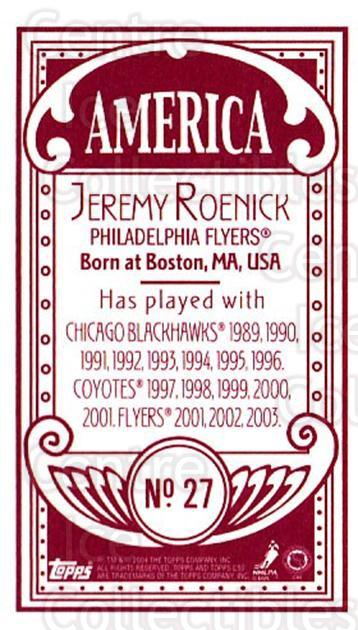2003-04 Topps C55 Minis American Red #27 Jeremy Roenick<br/>2 In Stock - $5.00 each - <a href=https://centericecollectibles.foxycart.com/cart?name=2003-04%20Topps%20C55%20Minis%20American%20Red%20%2327%20Jeremy%20Roenick...&quantity_max=2&price=$5.00&code=318480 class=foxycart> Buy it now! </a>