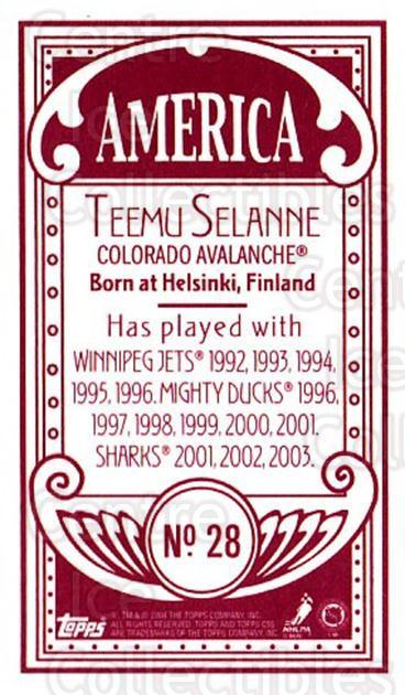 2003-04 Topps C55 Minis American Red #28 Teemu Selanne<br/>2 In Stock - $10.00 each - <a href=https://centericecollectibles.foxycart.com/cart?name=2003-04%20Topps%20C55%20Minis%20American%20Red%20%2328%20Teemu%20Selanne...&quantity_max=2&price=$10.00&code=318481 class=foxycart> Buy it now! </a>