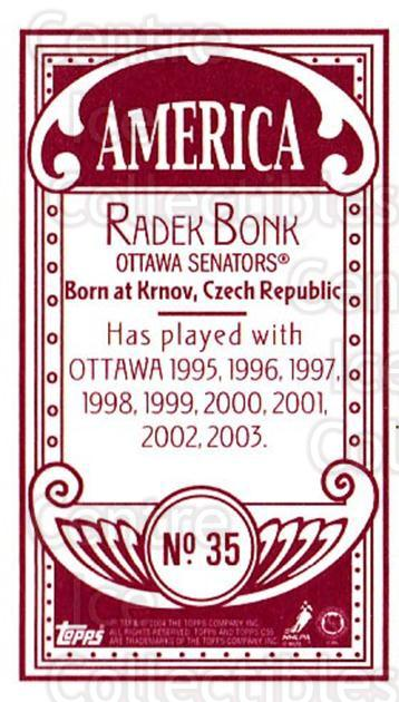 2003-04 Topps C55 Minis American Red #35 Radek Bonk<br/>1 In Stock - $5.00 each - <a href=https://centericecollectibles.foxycart.com/cart?name=2003-04%20Topps%20C55%20Minis%20American%20Red%20%2335%20Radek%20Bonk...&quantity_max=1&price=$5.00&code=318489 class=foxycart> Buy it now! </a>