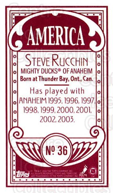 2003-04 Topps C55 Minis American Red #36 Steve Rucchin<br/>2 In Stock - $5.00 each - <a href=https://centericecollectibles.foxycart.com/cart?name=2003-04%20Topps%20C55%20Minis%20American%20Red%20%2336%20Steve%20Rucchin...&quantity_max=2&price=$5.00&code=318490 class=foxycart> Buy it now! </a>