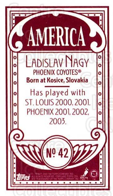 2003-04 Topps C55 Minis American Red #42 Ladislav Nagy<br/>2 In Stock - $5.00 each - <a href=https://centericecollectibles.foxycart.com/cart?name=2003-04%20Topps%20C55%20Minis%20American%20Red%20%2342%20Ladislav%20Nagy...&quantity_max=2&price=$5.00&code=318496 class=foxycart> Buy it now! </a>