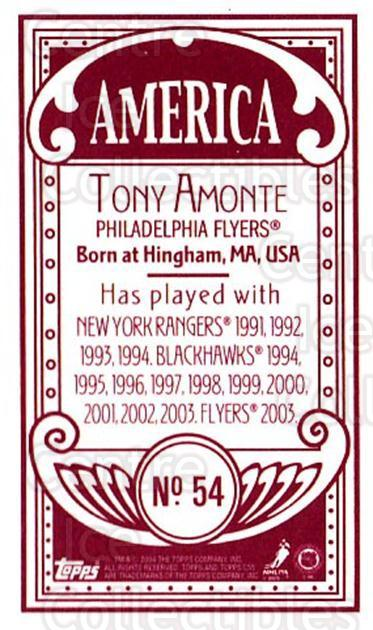 2003-04 Topps C55 Minis American Red #54 Tony Amonte<br/>2 In Stock - $5.00 each - <a href=https://centericecollectibles.foxycart.com/cart?name=2003-04%20Topps%20C55%20Minis%20American%20Red%20%2354%20Tony%20Amonte...&quantity_max=2&price=$5.00&code=318509 class=foxycart> Buy it now! </a>