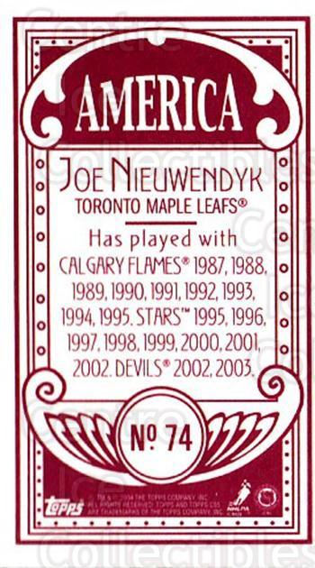 2003-04 Topps C55 Minis American Red #74 Joe Nieuwendyk<br/>1 In Stock - $5.00 each - <a href=https://centericecollectibles.foxycart.com/cart?name=2003-04%20Topps%20C55%20Minis%20American%20Red%20%2374%20Joe%20Nieuwendyk...&quantity_max=1&price=$5.00&code=318530 class=foxycart> Buy it now! </a>