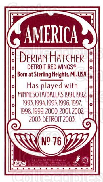 2003-04 Topps C55 Minis American Red #76 Derian Hatcher<br/>1 In Stock - $5.00 each - <a href=https://centericecollectibles.foxycart.com/cart?name=2003-04%20Topps%20C55%20Minis%20American%20Red%20%2376%20Derian%20Hatcher...&quantity_max=1&price=$5.00&code=318532 class=foxycart> Buy it now! </a>