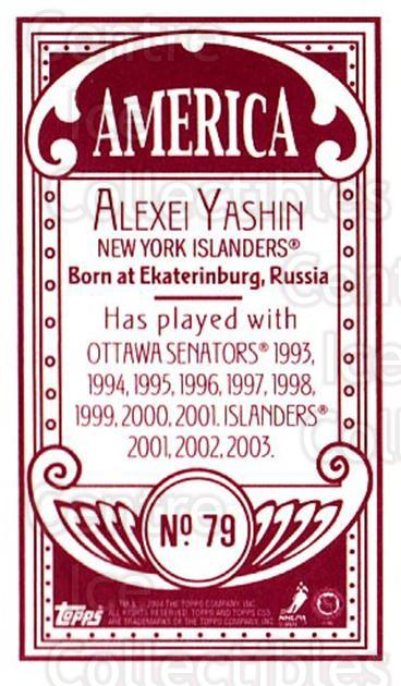 2003-04 Topps C55 Minis American Red #79 Alexei Yashin<br/>1 In Stock - $5.00 each - <a href=https://centericecollectibles.foxycart.com/cart?name=2003-04%20Topps%20C55%20Minis%20American%20Red%20%2379%20Alexei%20Yashin...&quantity_max=1&price=$5.00&code=318535 class=foxycart> Buy it now! </a>