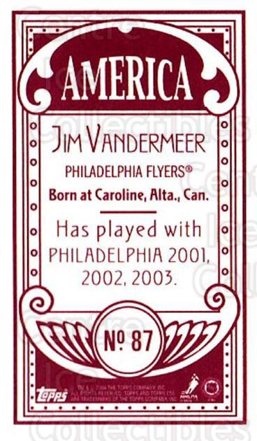 2003-04 Topps C55 Minis American Red #87 Jim Vandermeer<br/>4 In Stock - $5.00 each - <a href=https://centericecollectibles.foxycart.com/cart?name=2003-04%20Topps%20C55%20Minis%20American%20Red%20%2387%20Jim%20Vandermeer...&quantity_max=4&price=$5.00&code=318543 class=foxycart> Buy it now! </a>