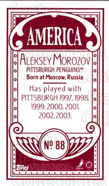 2003-04 Topps C55 Minis American Red #88 Alexei Morozov<br/>3 In Stock - $5.00 each - <a href=https://centericecollectibles.foxycart.com/cart?name=2003-04%20Topps%20C55%20Minis%20American%20Red%20%2388%20Alexei%20Morozov...&quantity_max=3&price=$5.00&code=318544 class=foxycart> Buy it now! </a>