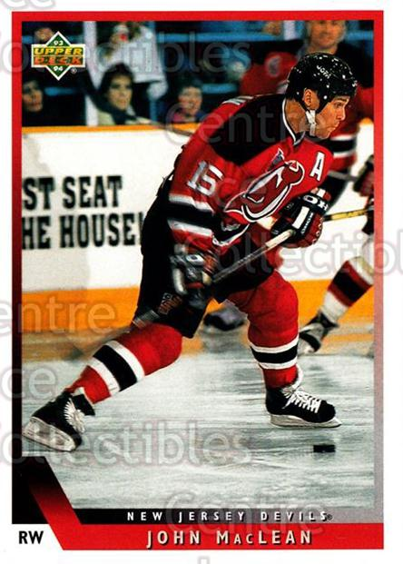 1993-94 Upper Deck #134 John MacLean<br/>12 In Stock - $1.00 each - <a href=https://centericecollectibles.foxycart.com/cart?name=1993-94%20Upper%20Deck%20%23134%20John%20MacLean...&quantity_max=12&price=$1.00&code=3186 class=foxycart> Buy it now! </a>