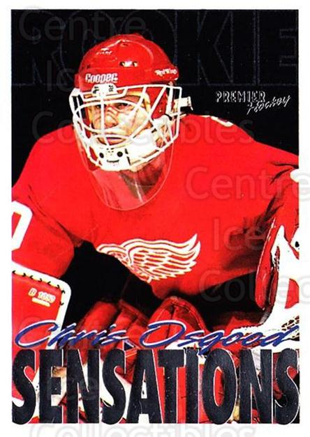 1994-95 OPC Premier #199 Chris Osgood<br/>5 In Stock - $1.00 each - <a href=https://centericecollectibles.foxycart.com/cart?name=1994-95%20OPC%20Premier%20%23199%20Chris%20Osgood...&quantity_max=5&price=$1.00&code=31885 class=foxycart> Buy it now! </a>