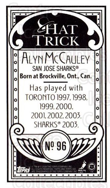 2003-04 Topps C55 Minis Hat Trick #96 Alyn McCauley<br/>2 In Stock - $5.00 each - <a href=https://centericecollectibles.foxycart.com/cart?name=2003-04%20Topps%20C55%20Minis%20Hat%20Trick%20%2396%20Alyn%20McCauley...&quantity_max=2&price=$5.00&code=318873 class=foxycart> Buy it now! </a>