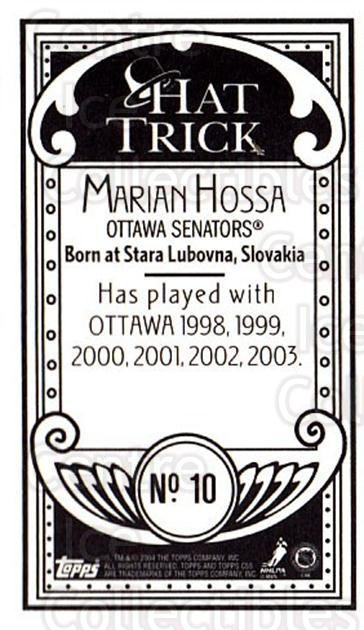 2003-04 Topps C55 Minis Hat Trick #10 Marian Hossa<br/>2 In Stock - $5.00 each - <a href=https://centericecollectibles.foxycart.com/cart?name=2003-04%20Topps%20C55%20Minis%20Hat%20Trick%20%2310%20Marian%20Hossa...&quantity_max=2&price=$5.00&code=318880 class=foxycart> Buy it now! </a>
