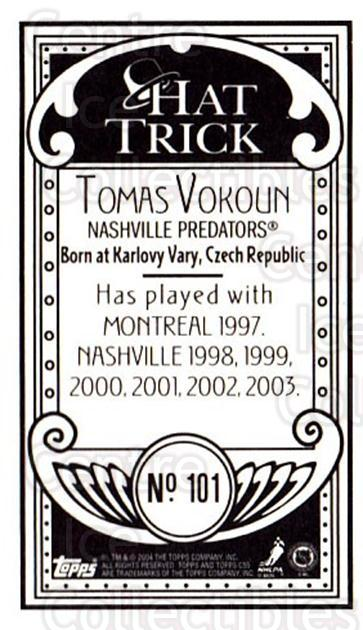 2003-04 Topps C55 Minis Hat Trick #101 Tomas Vokoun<br/>2 In Stock - $5.00 each - <a href=https://centericecollectibles.foxycart.com/cart?name=2003-04%20Topps%20C55%20Minis%20Hat%20Trick%20%23101%20Tomas%20Vokoun...&quantity_max=2&price=$5.00&code=318882 class=foxycart> Buy it now! </a>