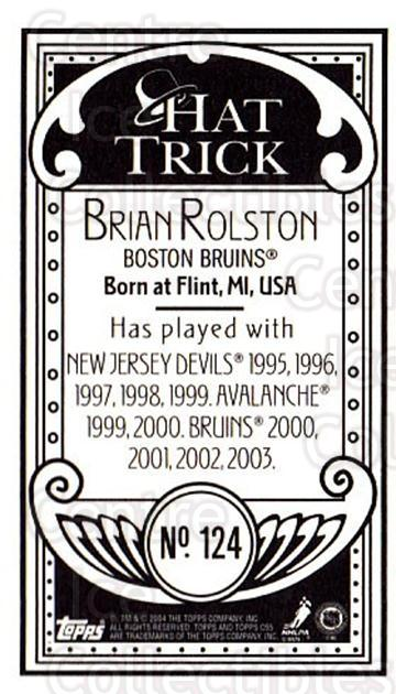 2003-04 Topps C55 Minis Hat Trick #124 Brian Rolston<br/>1 In Stock - $5.00 each - <a href=https://centericecollectibles.foxycart.com/cart?name=2003-04%20Topps%20C55%20Minis%20Hat%20Trick%20%23124%20Brian%20Rolston...&quantity_max=1&price=$5.00&code=318904 class=foxycart> Buy it now! </a>