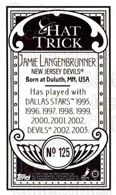 2003-04 Topps C55 Minis Hat Trick #125 Jamie Langenbrunner<br/>1 In Stock - $5.00 each - <a href=https://centericecollectibles.foxycart.com/cart?name=2003-04%20Topps%20C55%20Minis%20Hat%20Trick%20%23125%20Jamie%20Langenbru...&quantity_max=1&price=$5.00&code=318905 class=foxycart> Buy it now! </a>