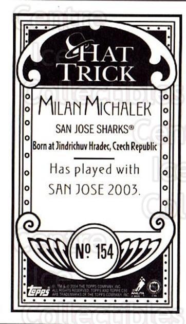 2003-04 Topps C55 Minis Hat Trick #154 Milan Michalek<br/>1 In Stock - $5.00 each - <a href=https://centericecollectibles.foxycart.com/cart?name=2003-04%20Topps%20C55%20Minis%20Hat%20Trick%20%23154%20Milan%20Michalek...&quantity_max=1&price=$5.00&code=318933 class=foxycart> Buy it now! </a>