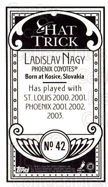 2003-04 Topps C55 Minis Hat Trick #42 Ladislav Nagy<br/>1 In Stock - $5.00 each - <a href=https://centericecollectibles.foxycart.com/cart?name=2003-04%20Topps%20C55%20Minis%20Hat%20Trick%20%2342%20Ladislav%20Nagy...&quantity_max=1&price=$5.00&code=318961 class=foxycart> Buy it now! </a>
