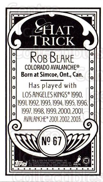 2003-04 Topps C55 Minis Hat Trick #67 Rob Blake<br/>1 In Stock - $5.00 each - <a href=https://centericecollectibles.foxycart.com/cart?name=2003-04%20Topps%20C55%20Minis%20Hat%20Trick%20%2367%20Rob%20Blake...&quantity_max=1&price=$5.00&code=318988 class=foxycart> Buy it now! </a>
