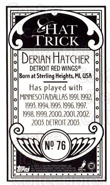 2003-04 Topps C55 Minis Hat Trick #76 Derian Hatcher<br/>1 In Stock - $5.00 each - <a href=https://centericecollectibles.foxycart.com/cart?name=2003-04%20Topps%20C55%20Minis%20Hat%20Trick%20%2376%20Derian%20Hatcher...&quantity_max=1&price=$5.00&code=318997 class=foxycart> Buy it now! </a>