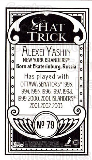 2003-04 Topps C55 Minis Hat Trick #79 Alexei Yashin<br/>1 In Stock - $5.00 each - <a href=https://centericecollectibles.foxycart.com/cart?name=2003-04%20Topps%20C55%20Minis%20Hat%20Trick%20%2379%20Alexei%20Yashin...&quantity_max=1&price=$5.00&code=319000 class=foxycart> Buy it now! </a>