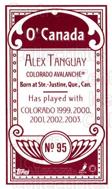 2003-04 Topps C55 Minis O Canada Red #95 Alex Tanguay<br/>1 In Stock - $5.00 each - <a href=https://centericecollectibles.foxycart.com/cart?name=2003-04%20Topps%20C55%20Minis%20O%20Canada%20Red%20%2395%20Alex%20Tanguay...&quantity_max=1&price=$5.00&code=319213 class=foxycart> Buy it now! </a>