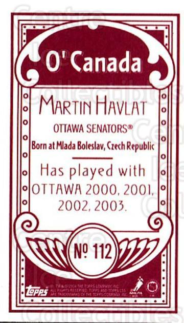 2003-04 Topps C55 Minis O Canada Red #112 Martin Havlat<br/>5 In Stock - $5.00 each - <a href=https://centericecollectibles.foxycart.com/cart?name=2003-04%20Topps%20C55%20Minis%20O%20Canada%20Red%20%23112%20Martin%20Havlat...&quantity_max=5&price=$5.00&code=319234 class=foxycart> Buy it now! </a>