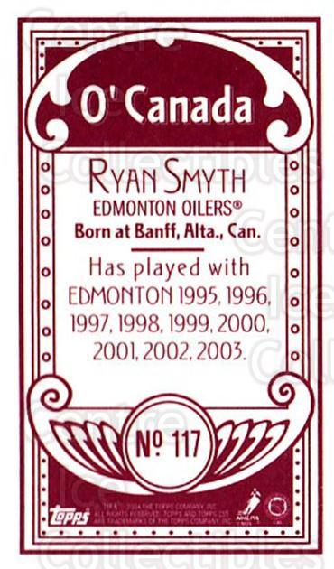 2003-04 Topps C55 Minis O Canada Red #117 Ryan Smyth<br/>1 In Stock - $5.00 each - <a href=https://centericecollectibles.foxycart.com/cart?name=2003-04%20Topps%20C55%20Minis%20O%20Canada%20Red%20%23117%20Ryan%20Smyth...&quantity_max=1&price=$5.00&code=319238 class=foxycart> Buy it now! </a>