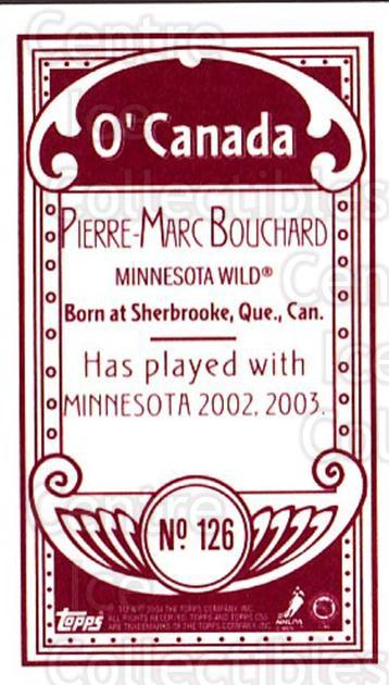 2003-04 Topps C55 Minis O Canada Red #126 Pierre-Marc Bouchard<br/>1 In Stock - $5.00 each - <a href=https://centericecollectibles.foxycart.com/cart?name=2003-04%20Topps%20C55%20Minis%20O%20Canada%20Red%20%23126%20Pierre-Marc%20Bou...&quantity_max=1&price=$5.00&code=319247 class=foxycart> Buy it now! </a>