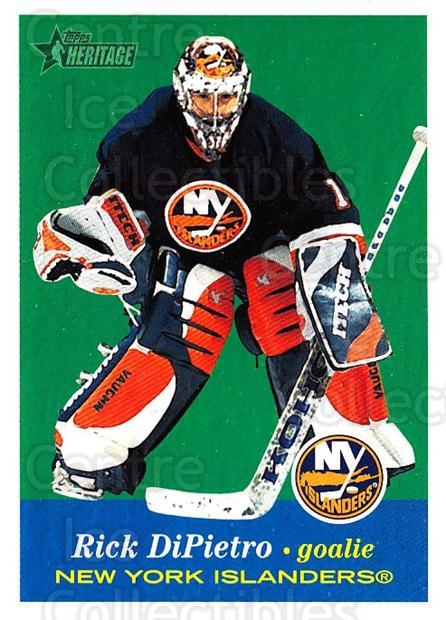 2001-02 Topps Heritage #25 Rick DiPietro<br/>4 In Stock - $1.00 each - <a href=https://centericecollectibles.foxycart.com/cart?name=2001-02%20Topps%20Heritage%20%2325%20Rick%20DiPietro...&quantity_max=4&price=$1.00&code=319647 class=foxycart> Buy it now! </a>