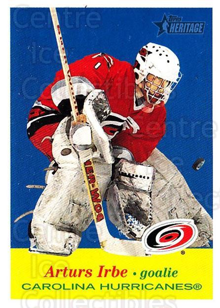 2001-02 Topps Heritage #45 Arturs Irbe<br/>6 In Stock - $1.00 each - <a href=https://centericecollectibles.foxycart.com/cart?name=2001-02%20Topps%20Heritage%20%2345%20Arturs%20Irbe...&quantity_max=6&price=$1.00&code=319667 class=foxycart> Buy it now! </a>