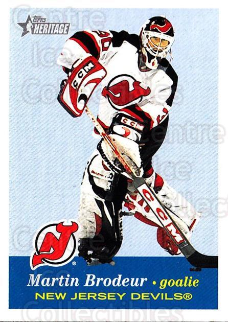 2001-02 Topps Heritage #46 Martin Brodeur<br/>4 In Stock - $2.00 each - <a href=https://centericecollectibles.foxycart.com/cart?name=2001-02%20Topps%20Heritage%20%2346%20Martin%20Brodeur...&quantity_max=4&price=$2.00&code=319668 class=foxycart> Buy it now! </a>