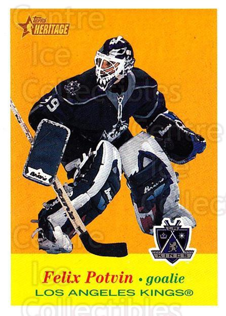 2001-02 Topps Heritage #65 Felix Potvin<br/>6 In Stock - $1.00 each - <a href=https://centericecollectibles.foxycart.com/cart?name=2001-02%20Topps%20Heritage%20%2365%20Felix%20Potvin...&quantity_max=6&price=$1.00&code=319687 class=foxycart> Buy it now! </a>