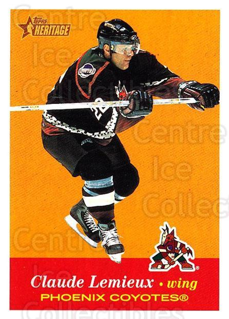 2001-02 Topps Heritage #68 Claude Lemieux<br/>6 In Stock - $1.00 each - <a href=https://centericecollectibles.foxycart.com/cart?name=2001-02%20Topps%20Heritage%20%2368%20Claude%20Lemieux...&quantity_max=6&price=$1.00&code=319690 class=foxycart> Buy it now! </a>